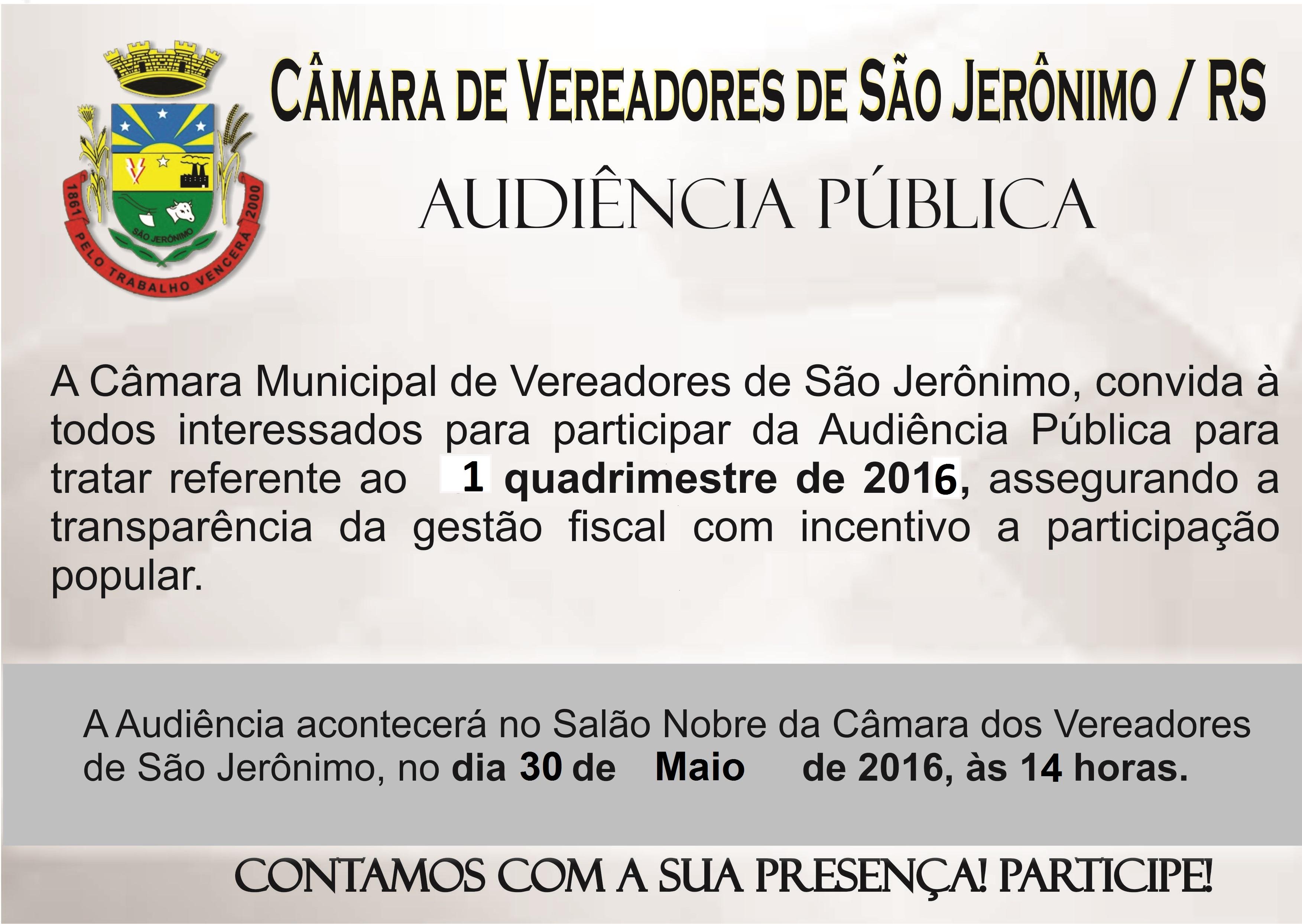Audiência Pública 02/2016