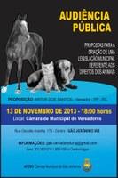Audiência Pública dia 13/11/2013