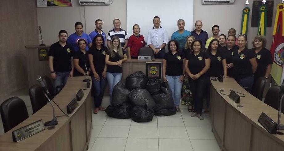 Campanha de doação de papel para reciclagem da Câmara