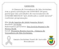 Convite Janeiro Branco