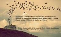 Convite para a Sessão Ordinária do dia 02/03/2015, em comemoração  referente ao Dia da Mulher