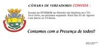 Convite Sessão no Interior