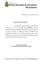Edital Audiência Pública 04/2017