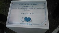 Lançamento da Pedra Fundamental para ampliação do Hospital Regional de São Jerônimo