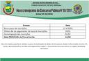 Novo cronograma do Concurso Público Nº01/2017