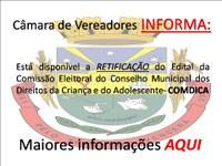 Retificação Edital 03/2015 COMDICA